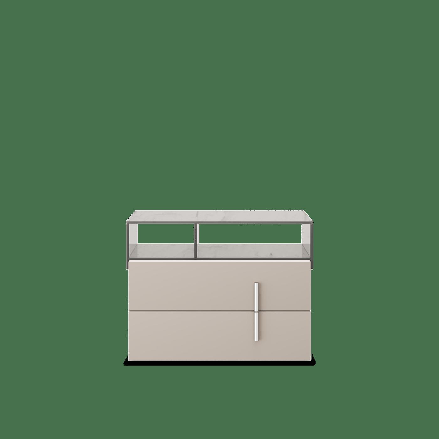 Mesa de cabeceira Gilv vidro