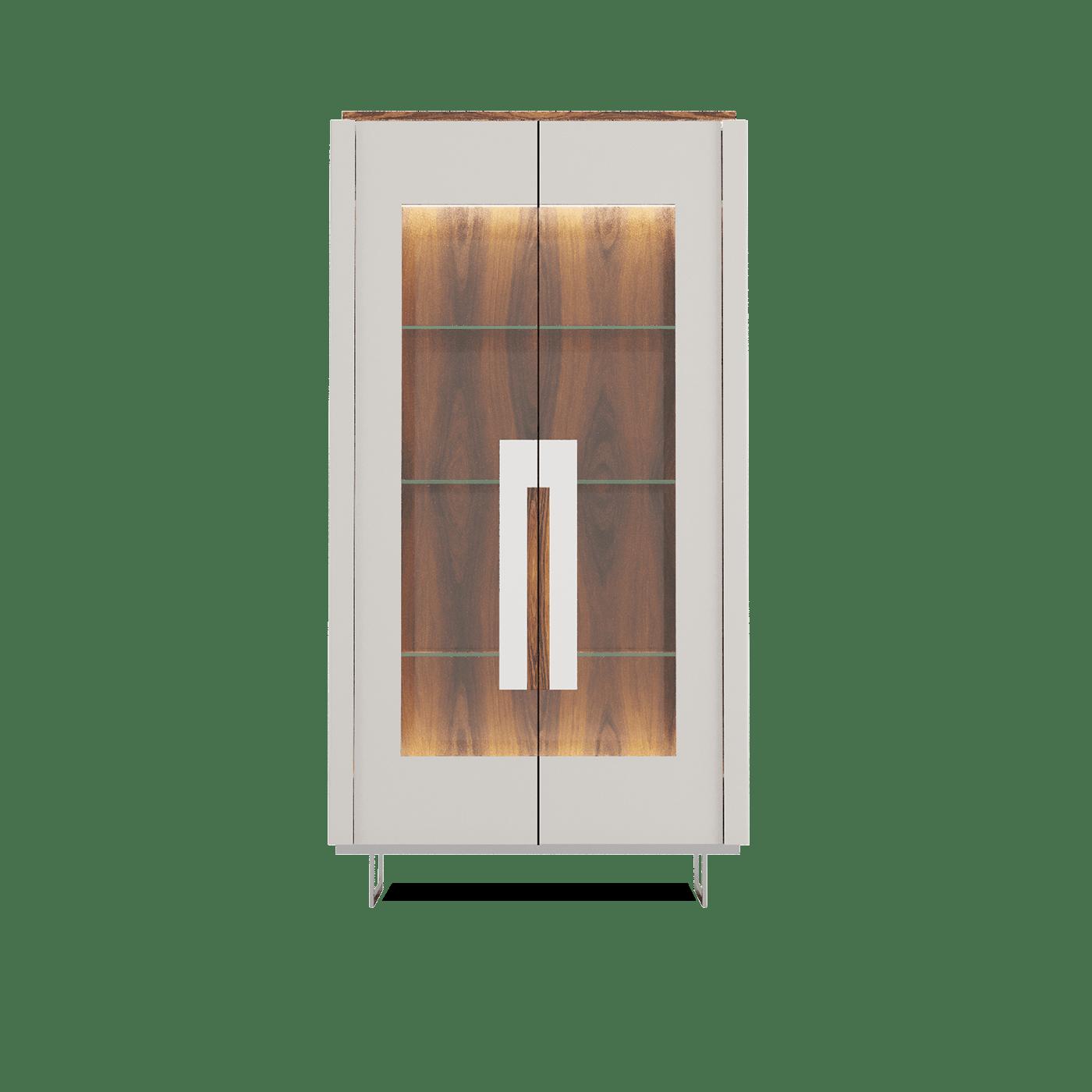 Vitrine Cartye de 2 Portas