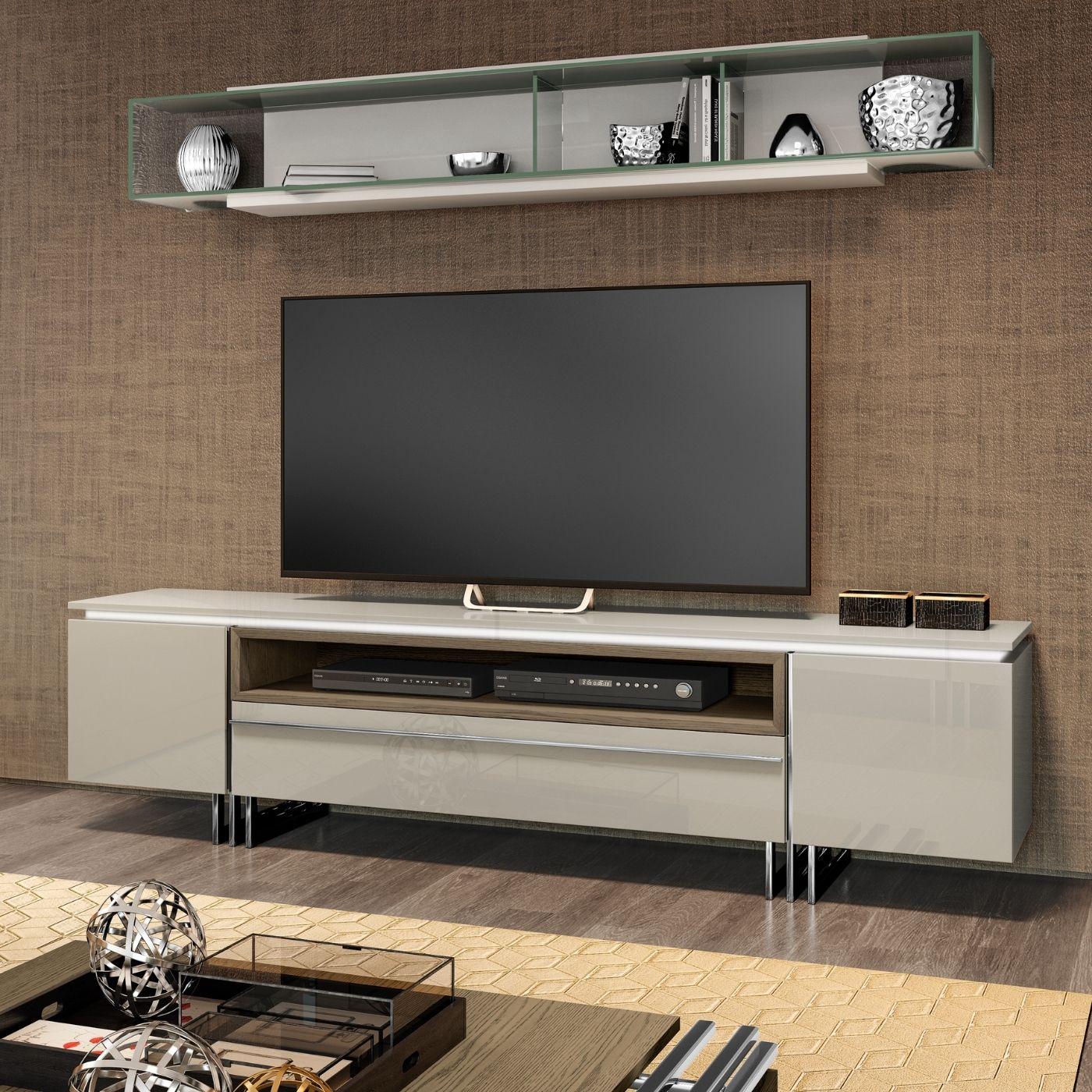 Base tv com pé inox