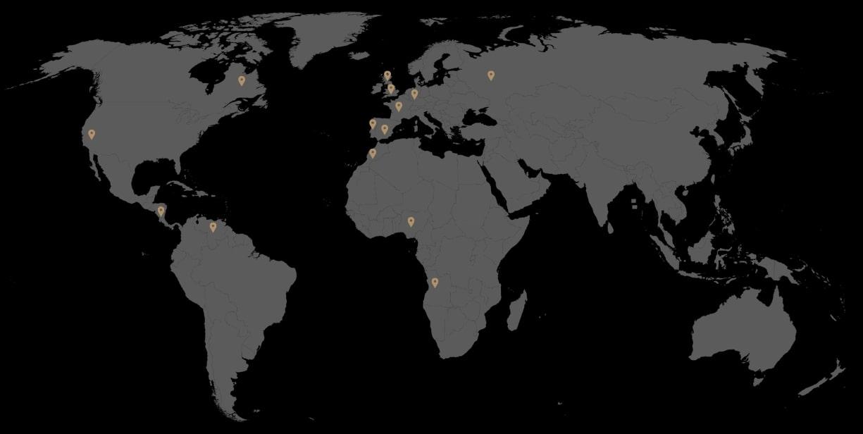 mapa con agentes