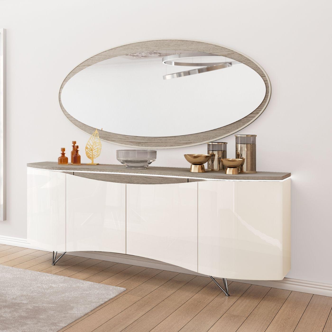 Espelho de parede Oval 1900